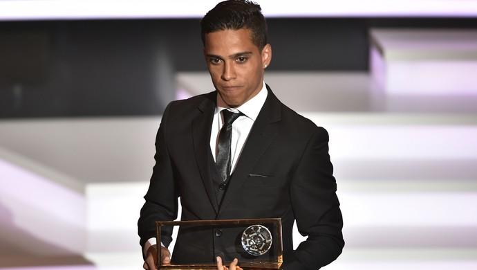 Wendell Lira Premio Puskas (Foto: AFP)