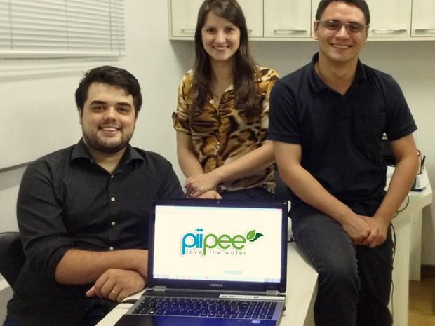 Ezequiel, Ariane e Bruno, equipe da Piipee (Foto: Divulgação)