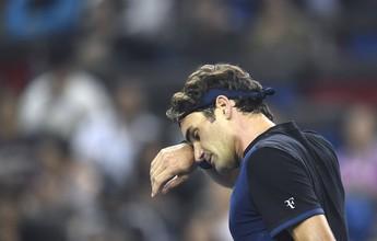 Federer decepciona e perde para o 70º do mundo na estreia em Xangai