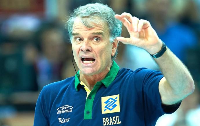 Bernardinho, França X Brasil - mundial de vôlei (Foto: Divulgação / FIVB)