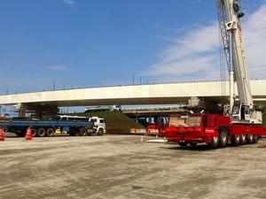 Obras no Arco Metropolitano na rodovia Rio-Petrópolis (Foto: Divulgação Ascom Seobras RJ/Érica Ramalho)