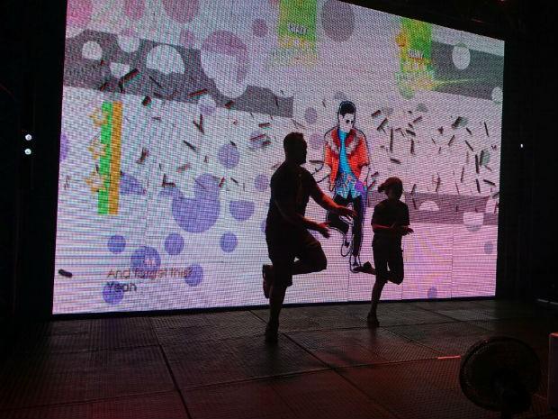 Veterano do TEM Games 'abandona' Street Fighter e se arrisca na dança (Foto: Ednan Gomes/G1)