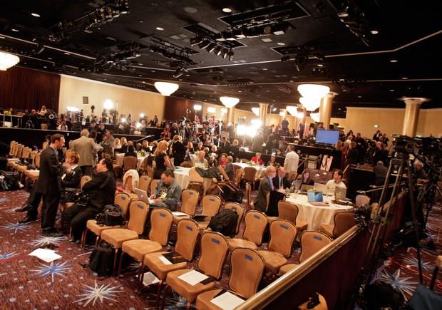 Coletiva para anunciar os vencedores de 2008 (Foto: Getty Images)