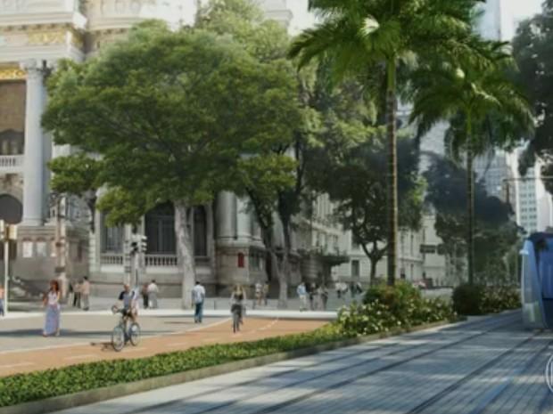 VLT vai passar na Avenida Rio Branco (Foto: Reprodução/Prefeitura do Rio)