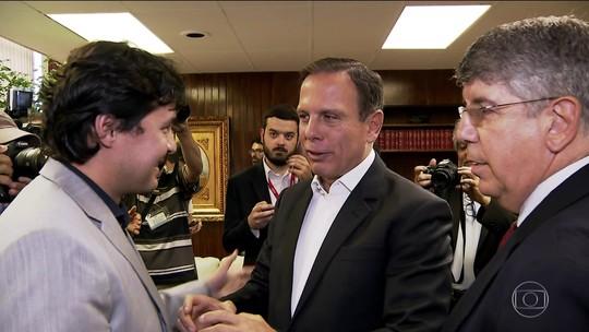 Doria visita Câmara de SP pela 1ª vez após eleito e se reúne com vereadores