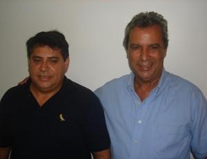 Adilson de Freitas e Zuza, presidente e técnico do Vilavelhense (Foto: Reprodução/Site oficial do Vilavelhense)