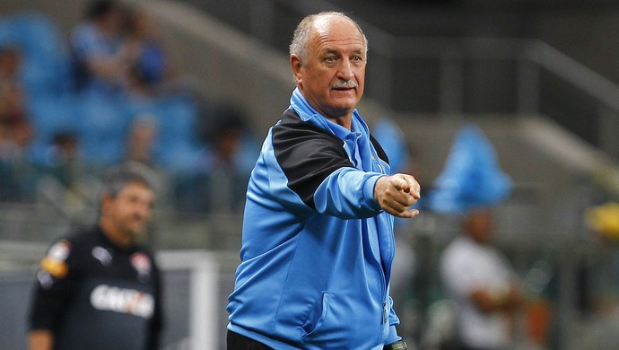 Felipão contra o Vitória (Foto: Lucas Uebel / Grêmio, DVG)