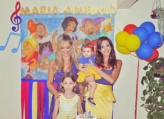 Maria Amélia, filha de Claudia Bossle e Champignon, em sua festa de um ano (Foto: Arquivo Pessoal/Divulgação)