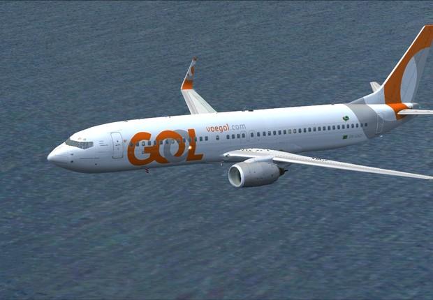 Avião da Gol Linhas Aéreas (Foto: Reprodução/Facebook)