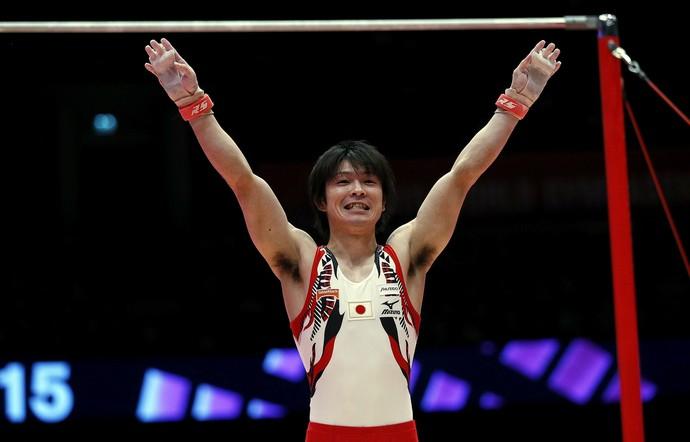 Kohei Uchimura ganhou mais uma medalha de ouro (Foto: Reuters)