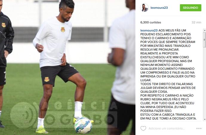 Léo Moura instagram (Foto: Reprodução/Instagram)