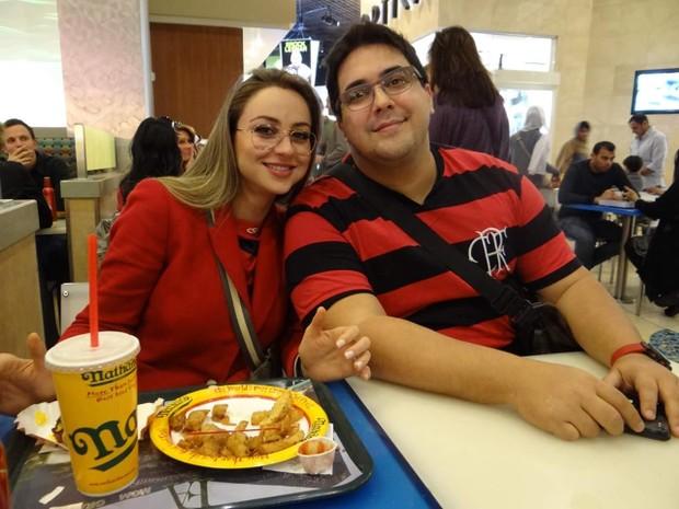 Manuella Vieira e André Marques (Foto: Facebook / Reprodução)
