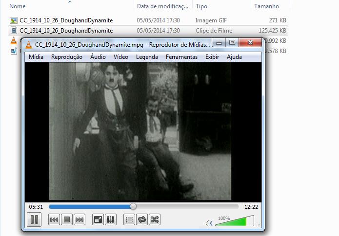 Vídeo sendo reproduzido no VLC (Foto: Reprodução/Edivaldo Brito)