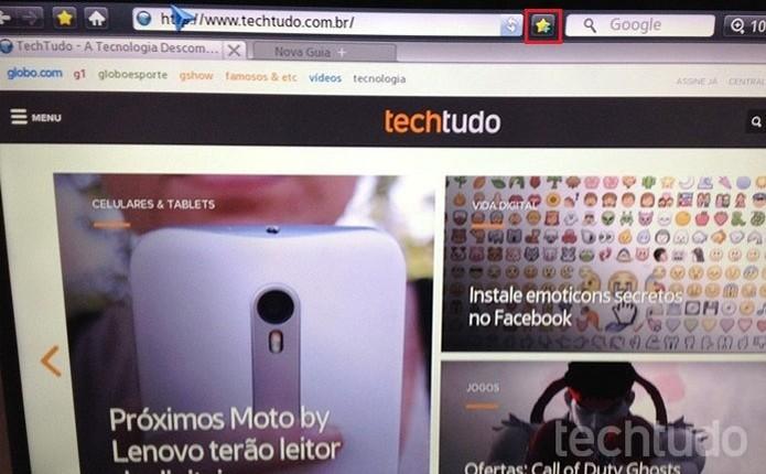Também é possível adicionar favoritos no navegador da TV (Foto: Gabriel Ribeiro/TechTudo)