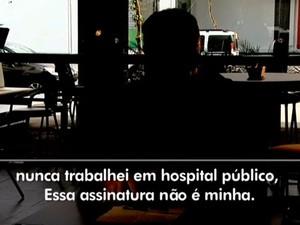 Empresário desconficou de funcionária e entrou em contato com médico (Foto: Reprodução/RBS TV)