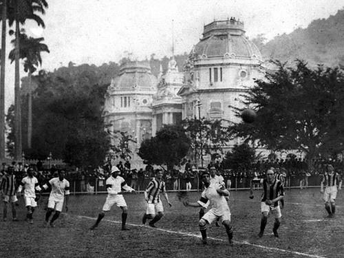 Brasil x Exeter City, primeiro jogo da Seleção (Foto: Reprodução/Internet)