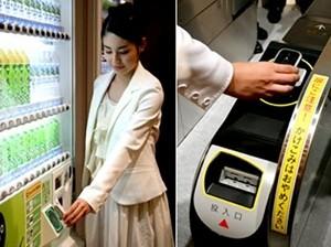 Demonstração do uso da NFC no Japão  (Foto: Divulgação)