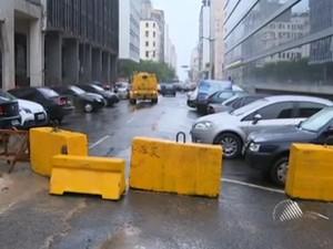 trânsito comércio em salvador (Foto: Reprodução/TV Bahia)
