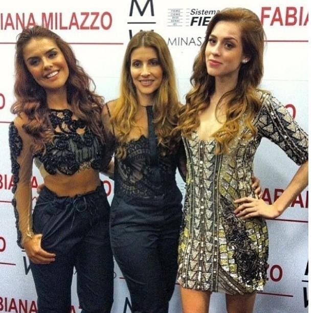 Paloma Bernardi, Fabiana Milazzo e Sophia Abrahão em evento em Minas Gerais (Foto: Instagram/ Reprodução)