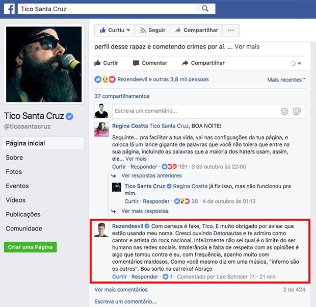 Pedro Rezende explica que nada tem a ver com as ameaças de morte (Foto: Reprodução)