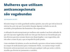Ex-aluno da Unesp nega que tenha publicado textos contra mulheres (Foto: Reprodução)