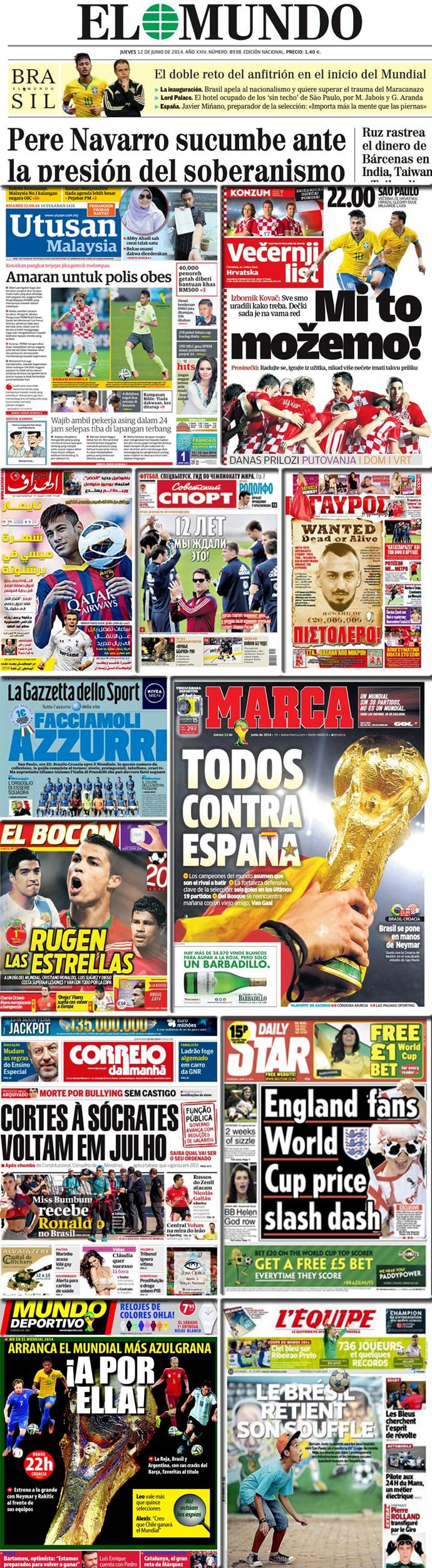Mosaico - Jornais Copa do Mundo