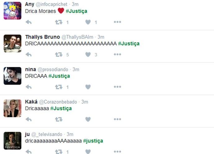 Drica Moraes deixou público empolgado (Foto: TV Globo)