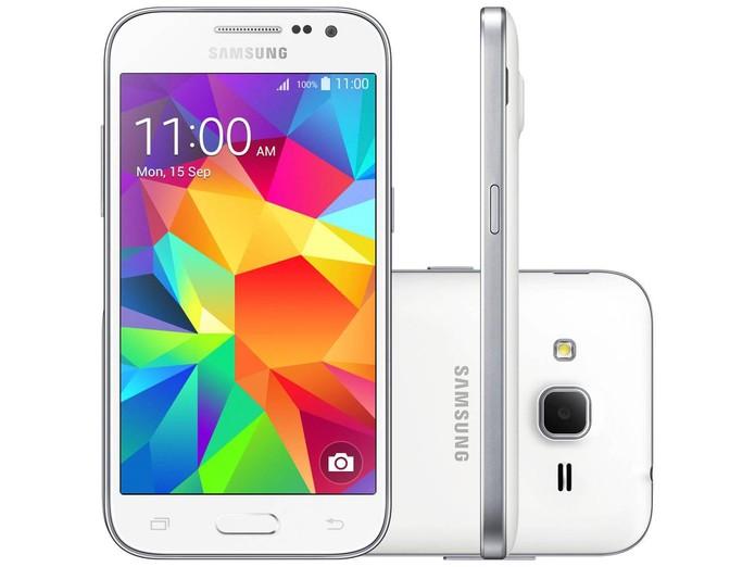 Smartphone Samsung Galaxy modelo Win Duos já vem com 4G e custa por volta de R$ 520. Foto: Divulgação.