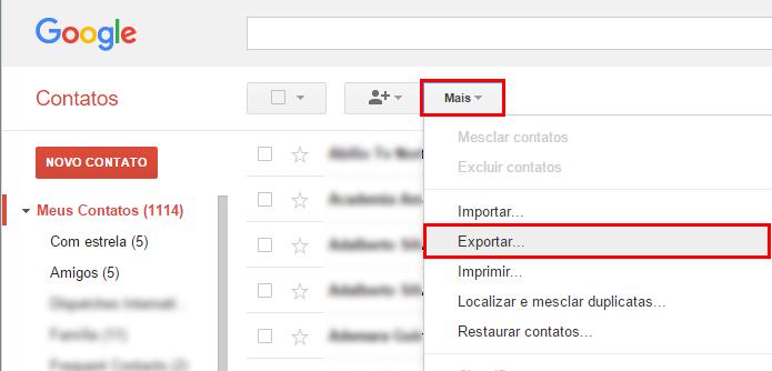Exporte seus contatos do Gmail (Foto: Reprodução/Paulo Alves)