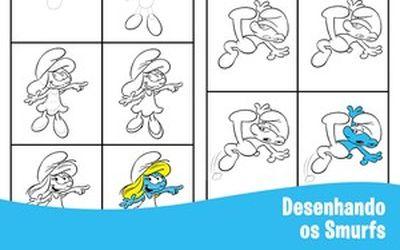 [Especial Os Smurfs] Desenhando
