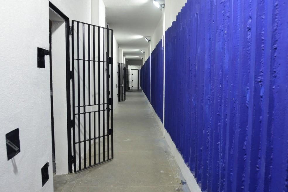 Pavilhão 2 de Alcaçuz foi reformado e está pronto para receber detentos (Foto: Andréa Tavares/G1 )