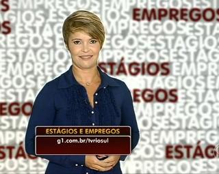 Marilene Soares apresenta o Estágios e Empregos dessa semana (Foto: RJTV 1ª Edição)