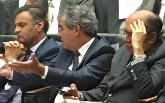 Discurso de Serra incomoda senador Jorge Vianna, do PT (Foto: Reprodução)