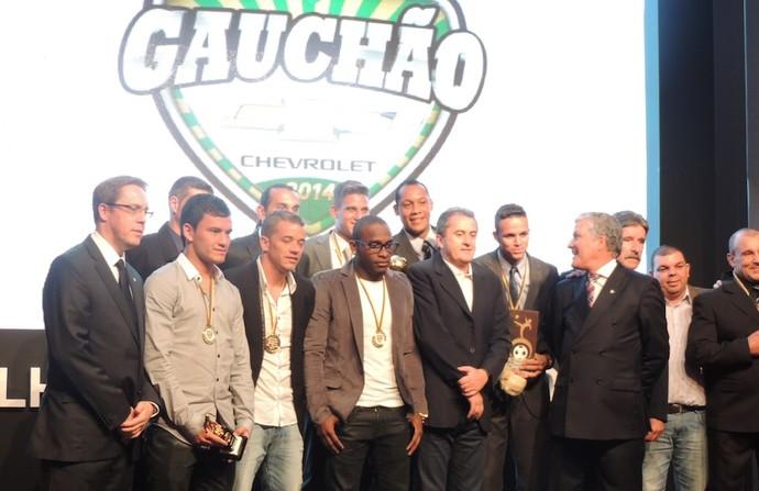 Vencedores gauchao premio 2014 festa (Foto: Tatiana Lopes/GloboEsporte.com)