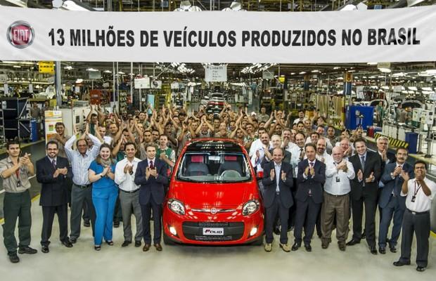 Fiat atinge a marca de 13 milhões de veículos fabricados no Brasil  (Foto: Fiat)