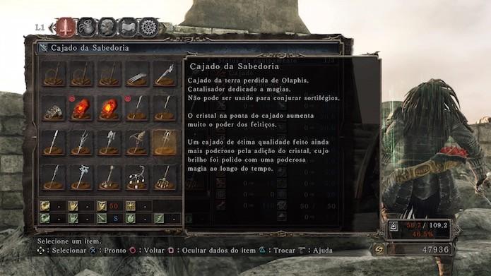 Dark Souls 2: Scholar of the First Sin: Cajado da Sabedoria (Foto: Reprodução/Victor Teixeira)