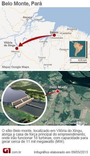 Infográfico sítio Belo Monte (Foto: Infográfico elaborado em 9.05.2013)