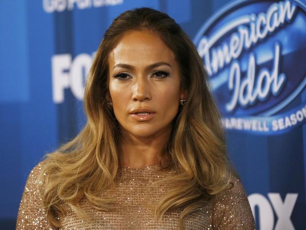 Jennifer Lopez no 'American Idol' em Los Angeles, nos Estados Unidos (Foto: Mario Anzuoni/ Reuters)