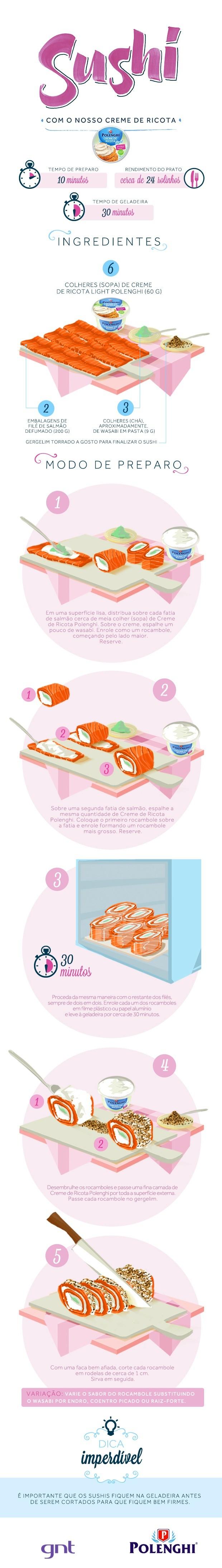 Nosso creme de ricota - sushi (Foto: GNT)