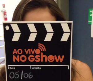 Renata Longaray invandiu o camarim (Foto: TV Globo)
