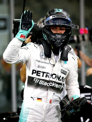Nico Rosberg após pole no treino classificatório para GP de Abu Dhabi
