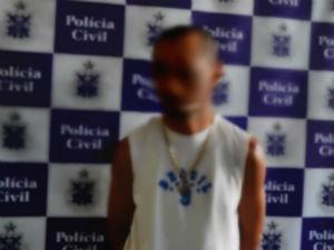 Pai suspeito de estuprar a própria filha foi preso em Itamaraju (Foto: Divulgação/Polícia Civil)