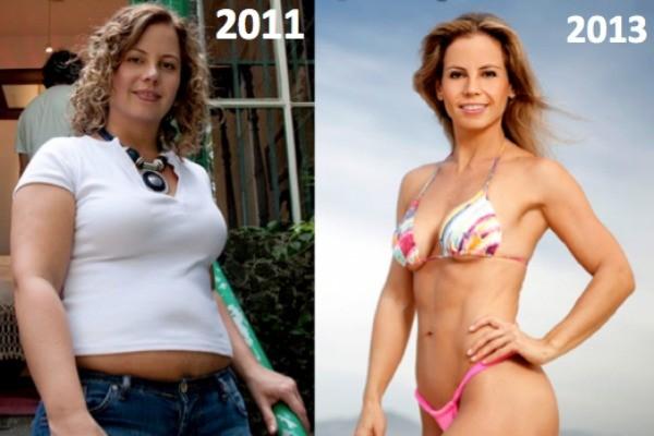 A moça perdeu 33kg em dez meses, mas vale lembrar que ela  iniciou a dieta pesando 98 kg (Foto: Divulgação/ O Blog da Mimis)