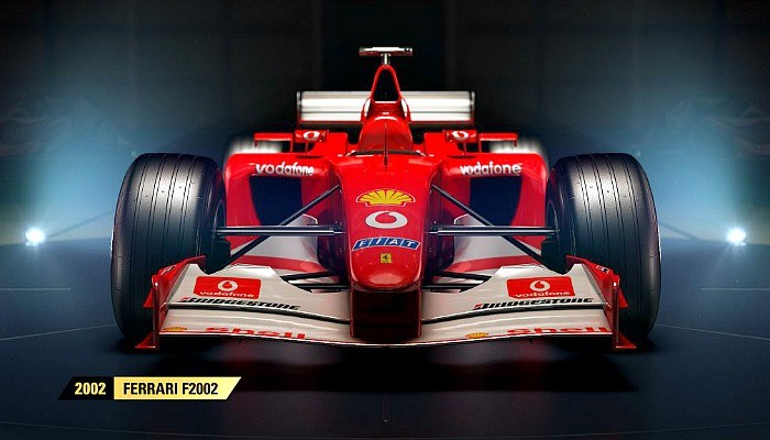Ferrari F2002 de 2002 estará no game F1 2017