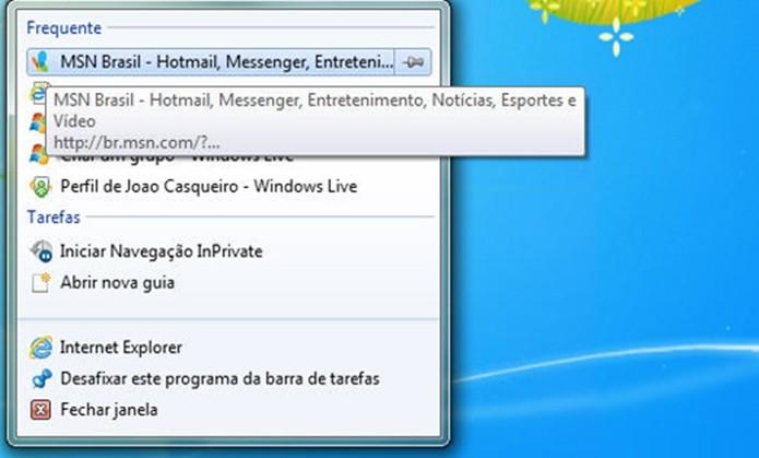 Lista de atalhos permite abrir rapidamente documentos mais usados (Foto: Divulgação/Microsoft)