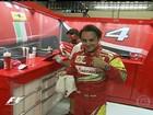 Felipe Massa ganha homenagem da Ferrari em treino para o GP do Brasil