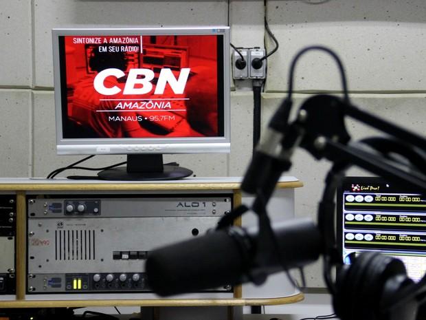 CBN Amazônia iniciou transmissão em FM nesta segunda-feira (14) (Foto: Rickardo Marques/G1 AM)