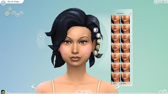 O primeiro grande destaque de The Sims 4 é o seu novo editor de Sims (Foto: Reprodução/Tais Carvalho)