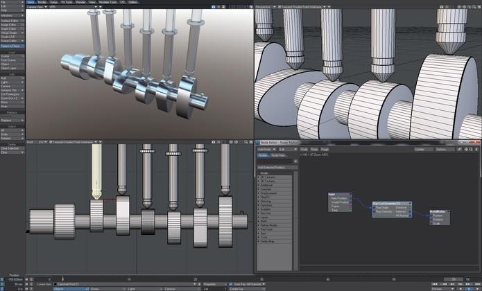 LightWave 3D tem diversas ferramentas e recursos para criação de desenhos em 3D (Foto: Divulgação)