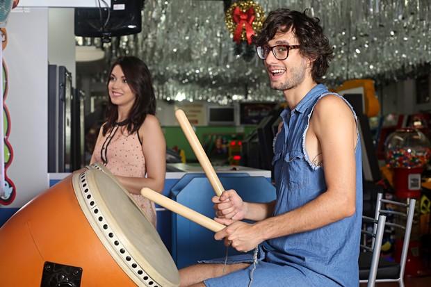 Pedro Falcão e Lelly (Foto: Celso Tavares / EGO)